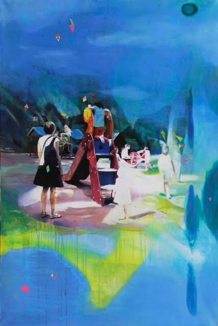 Jeux d'enfants de Jim Céladon (130 x 195 cm), 5 500 eurso