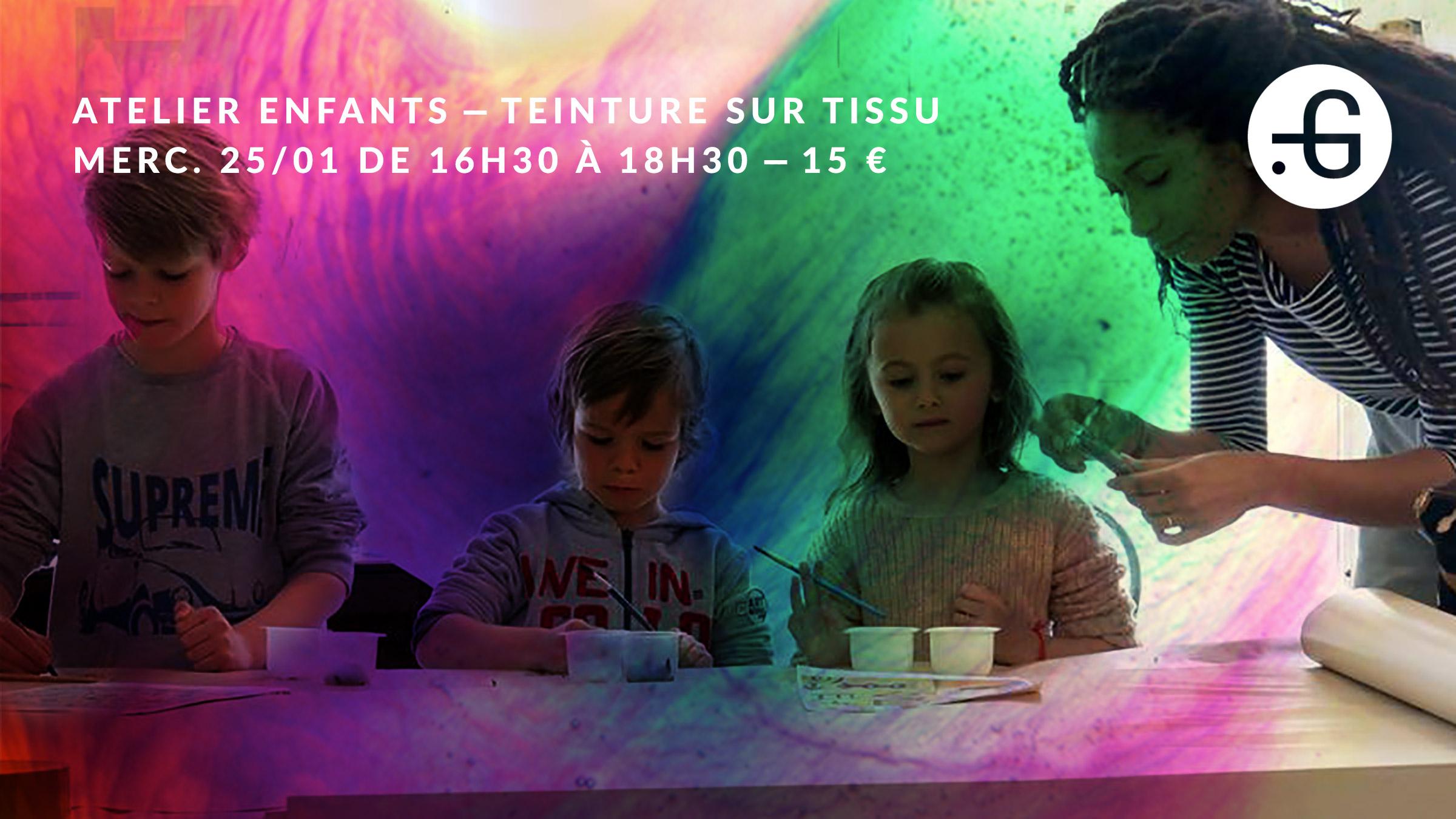 Taverne Gutenberg, Atelier enfants : teinture sur tissu