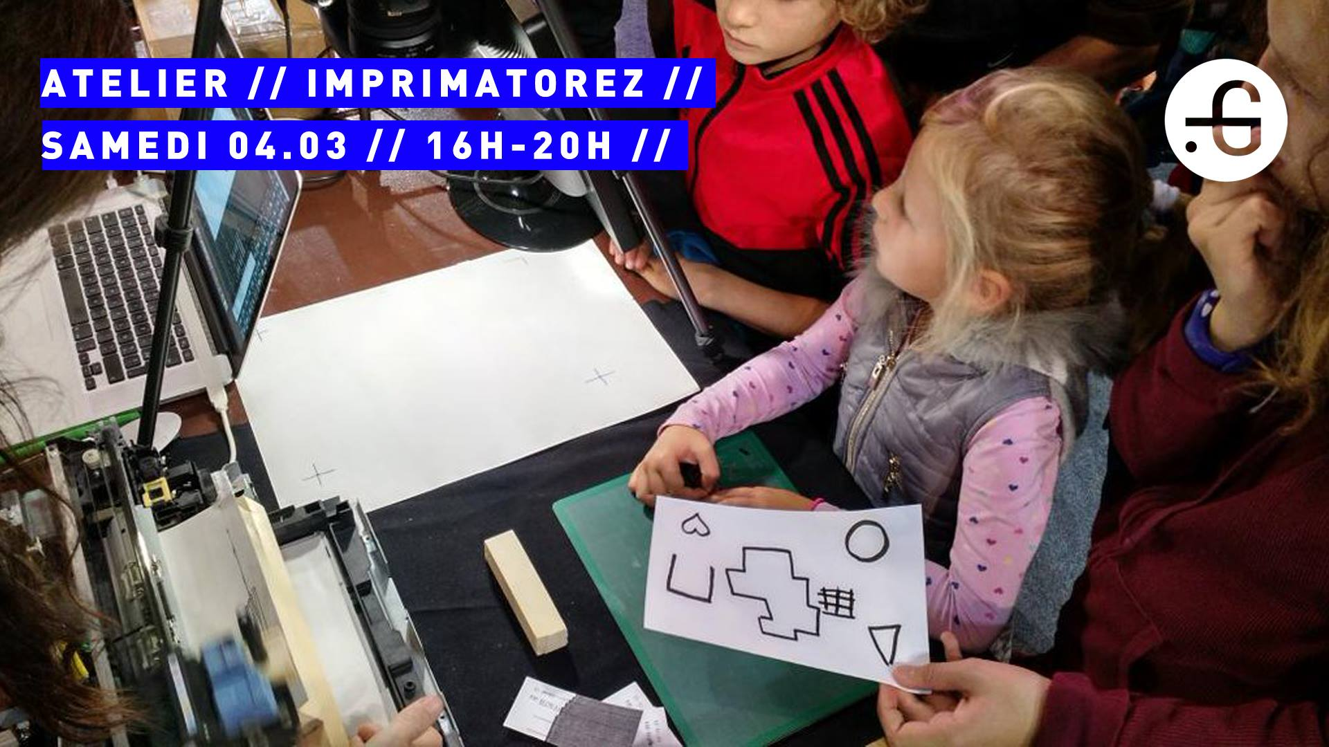 Taverne Gutenberg, Atelier enfants : Imprimatorez