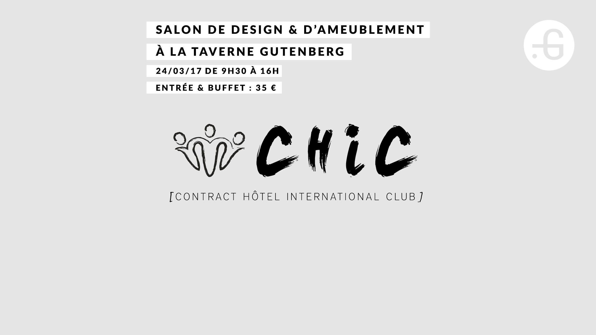 """Affiche """"Club Chic"""" à Taverne Gutenberg, 24/03/2017"""