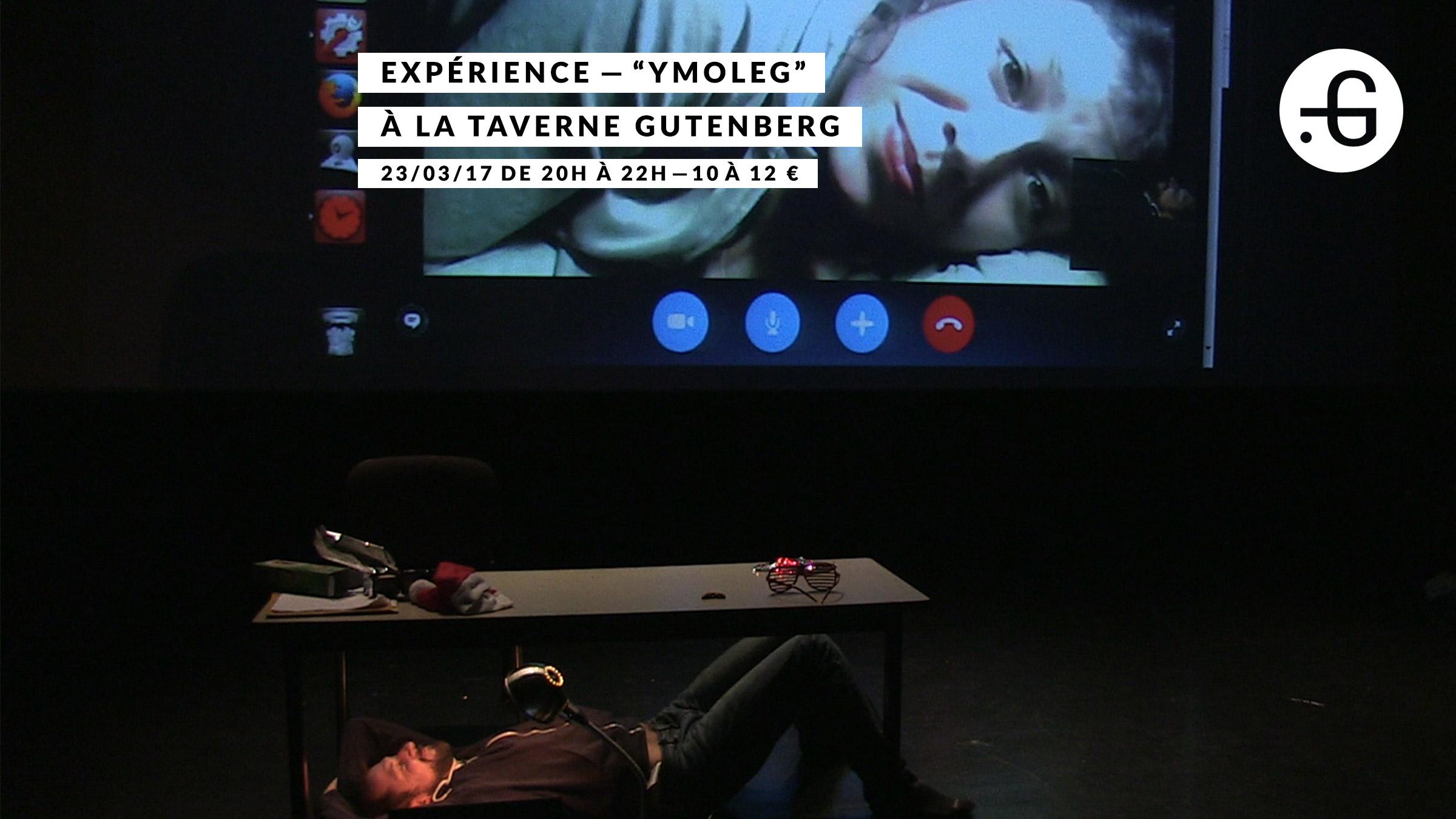 """Affiche """"Ymoleg"""" à Taverne Gutenberg, 23/03/2017"""