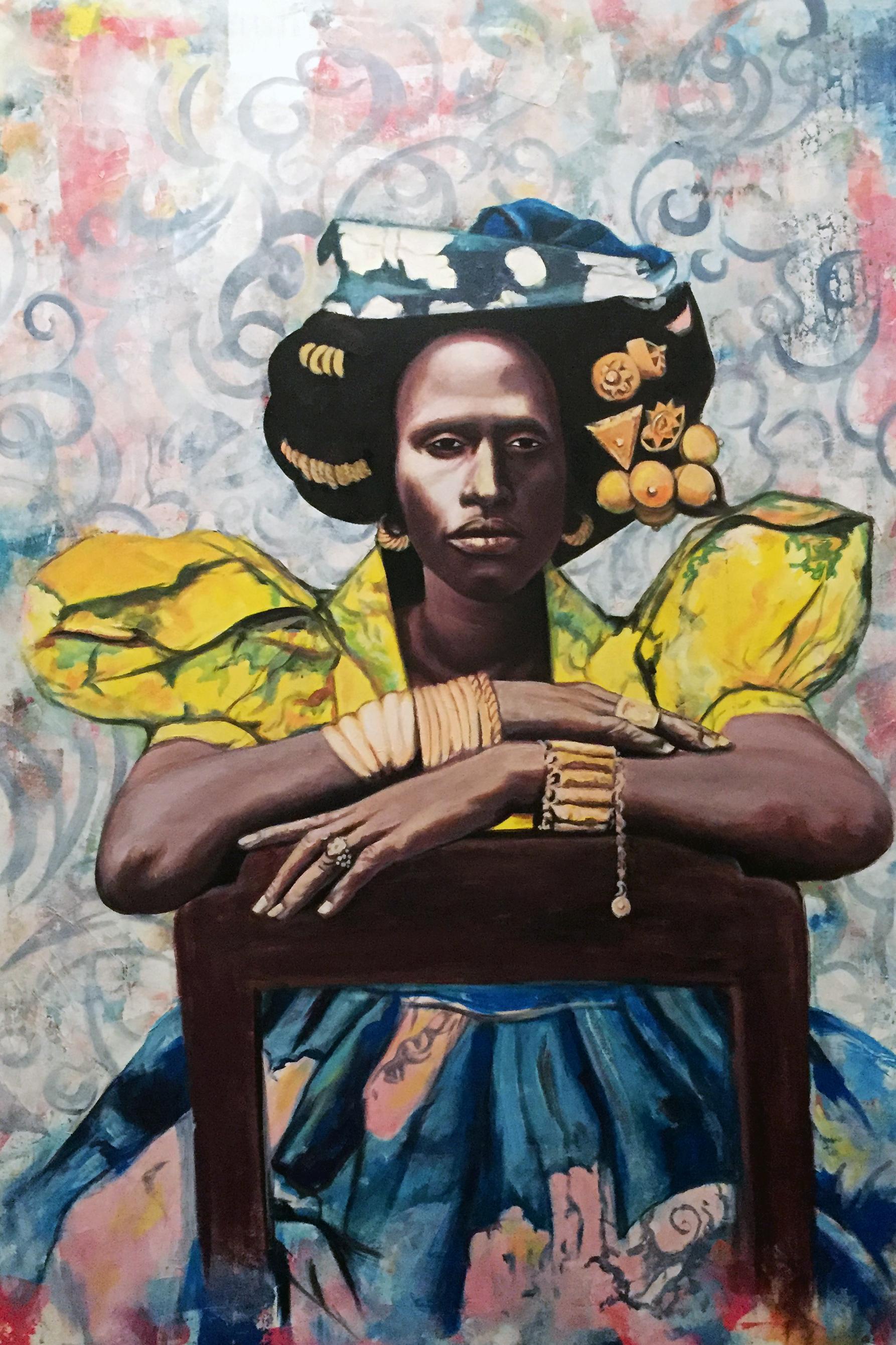 Portrait d'Africaine — Abdoul Khadre Seck (Taverne Gutenberg)