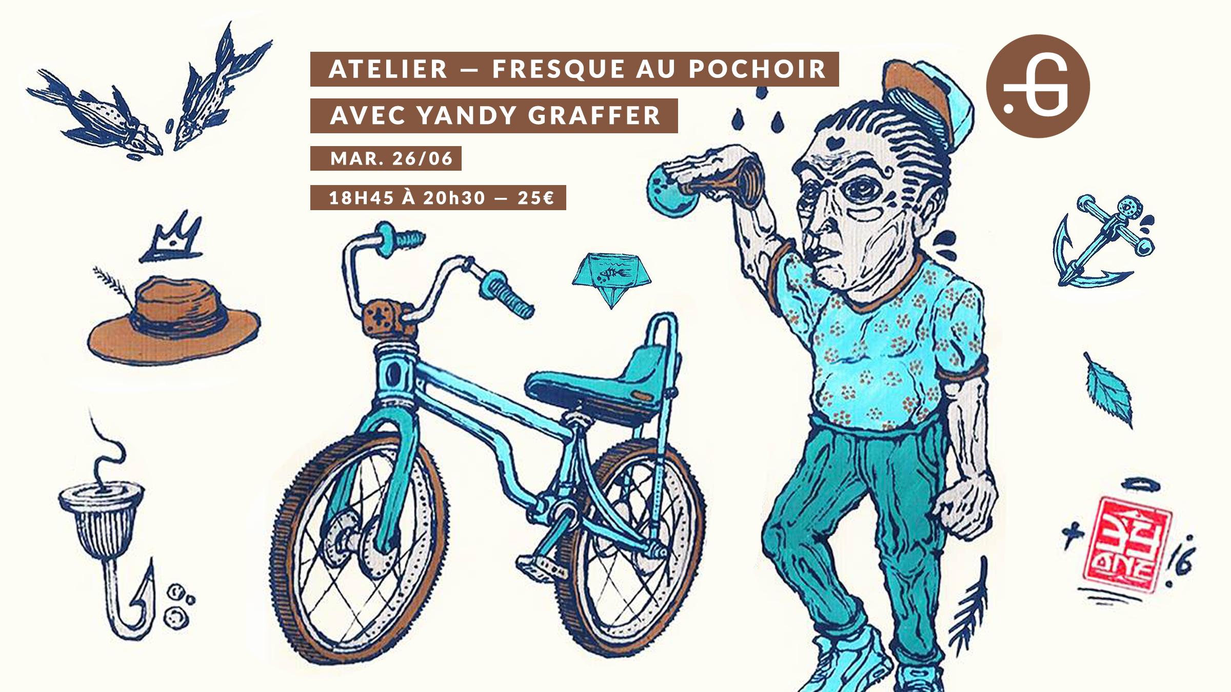 Atelier pochoir, yandy graffer 26/06