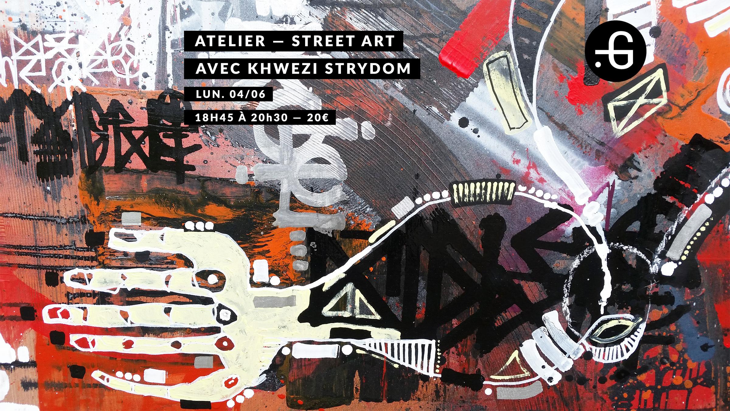 Atelier de street-art avec Khwezi Strydom à la Taverne Gutenberg